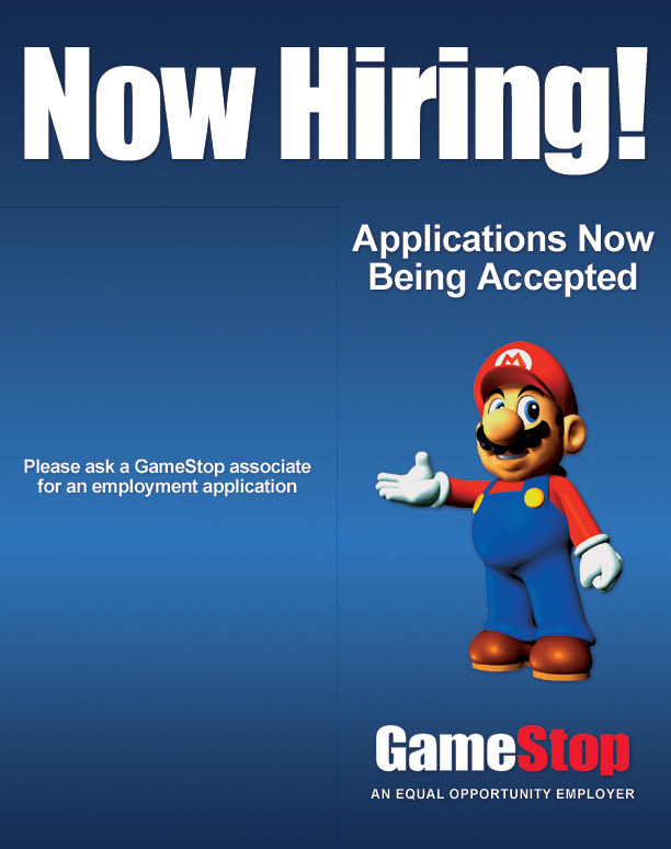 GameStop Now Hiring Sign 2